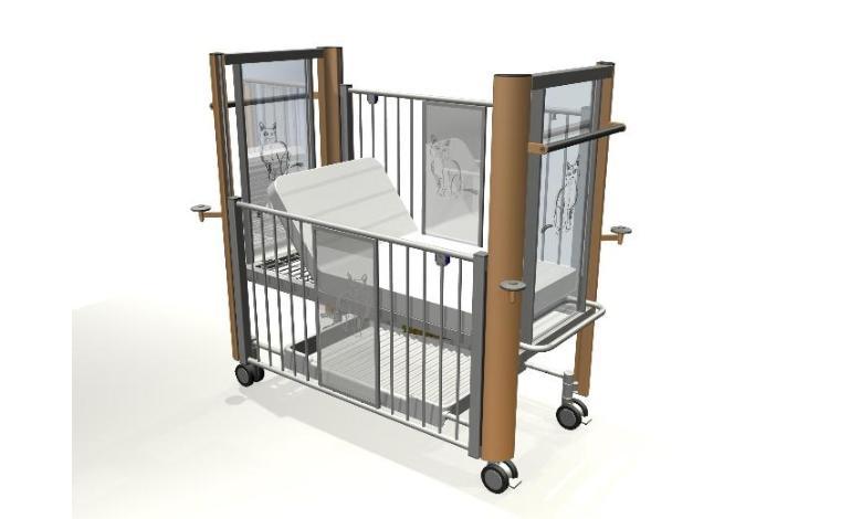 Projekt koncepcyjny szpitalnego łóżka dla dzieci