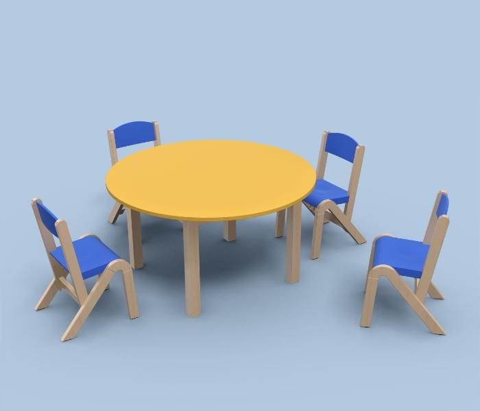 Drewniane krzesełka przedszkolne