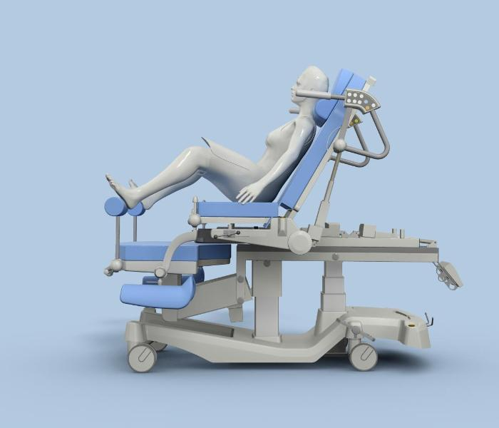 Projekt koncepcyjny łóżka porodowego