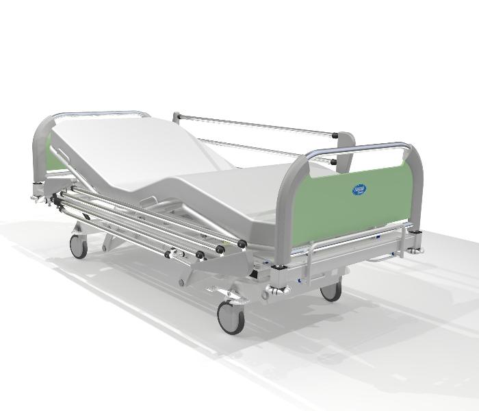 Projekty koncepcyjne szczytów i poręczy do łóżek szpitalnych