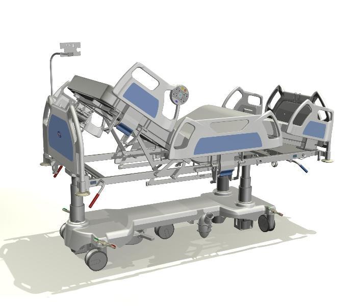 Projekt koncepcyjny łóżka na OIOM