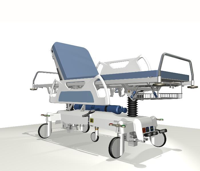 Projekt koncepcyjny wózka do przewożenia chorych
