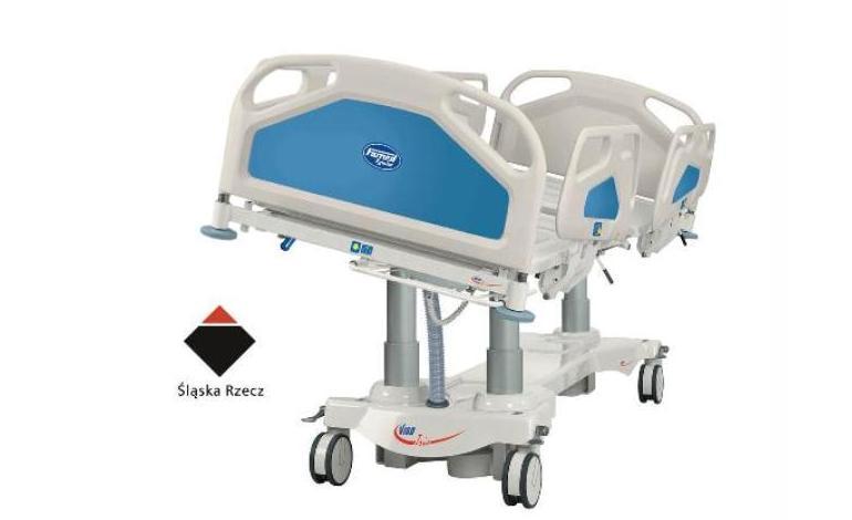 Łóżko szpitalne - LE-13 Vigo Trio przeznaczone na Oddziały Intensywnej Opieki Medycznej, z przechyłami bocznymi